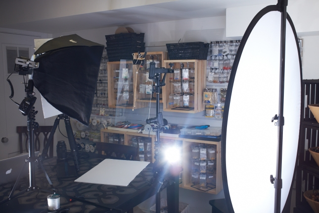 LumoPro Compact Stand and softbox setup