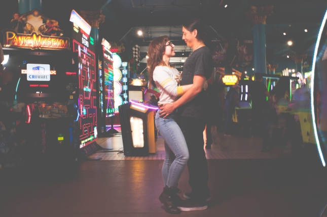 AD Couple Arcade Portrait